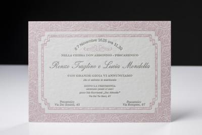 Letterpress, partecipazioni e inviti del tuo Matrimonio con stile