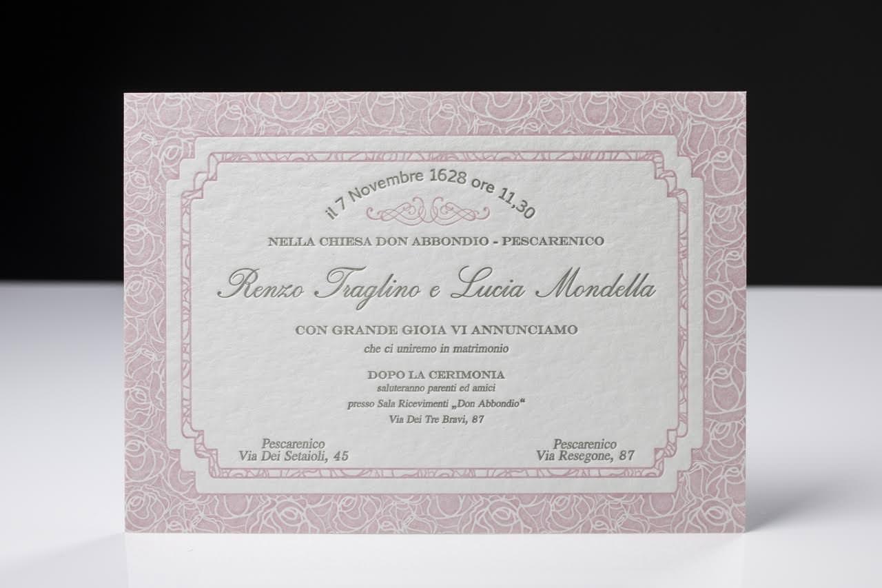 Partecipazioni Inviti Matrimonio.Letterpress Partecipazioni E Inviti Del Tuo Matrimonio Con