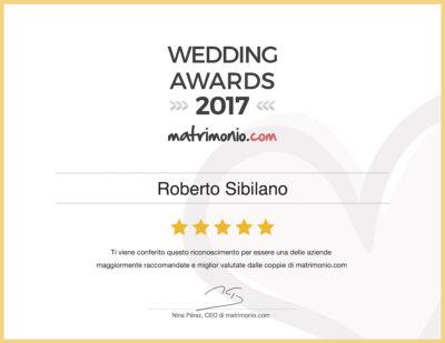 Roberto Sibilano riceve il premio 'Wedding Awards 2017' di matrimonio.com