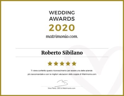 Roberto Sibilano: premio Wedding Awards 2020 della categoria Fotografia